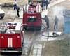 Пожарные спасли из горящего дома ребенка