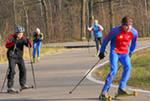 В Усинске продолжаются работы по обустройству лыжероллерной трассы