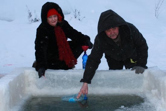 19 января 2013 года в Усинске отметили Крещение Господне