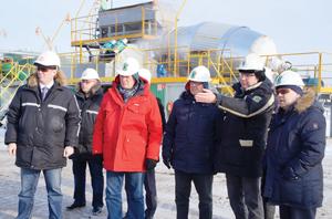 Специалисты Общества с гостями из Сыктывкара на объекте