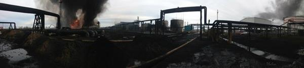 В 07.30 объявлена локализация пожара в резервуарном парке РВС-5000 ЛУКОЙЛ-Коми в Усинском районе