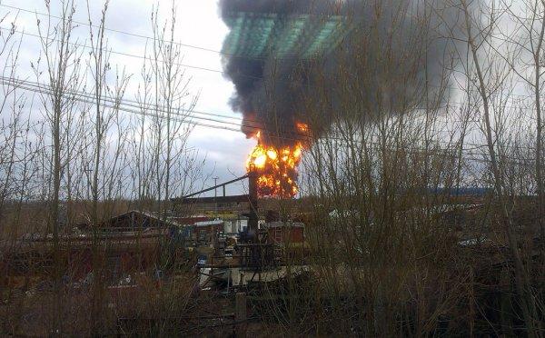Текущая информация о возгорании на Головных сооружениях (фото)