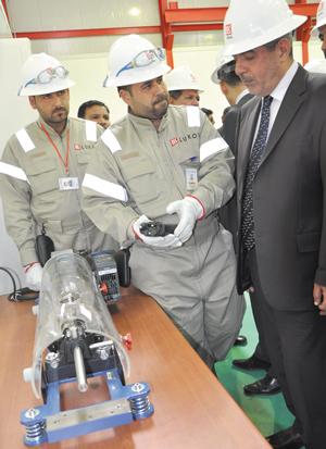 Иракские нефтяники в учебном центре