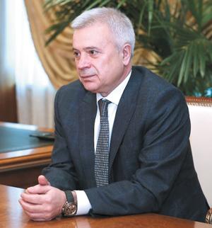 В. Алекперов во время встречи