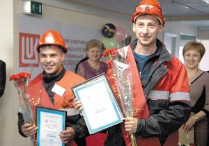 Серебряные призеры в направлении upstream Л. Канев (слева) и Р. Калачев